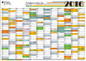 Der interkulturelle Kalender des Bundesamtes für Migration und ...