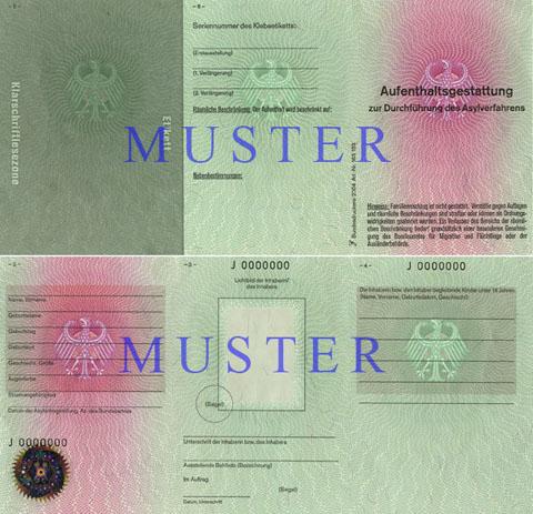 aufenthaltsstatus 2 personen mit einer aufenthaltsgestattung - Asylantrag Muster