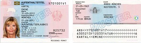 aufenthaltsstatus 1 personen mit einer aufenthaltserlaubnis - Asylantrag Muster